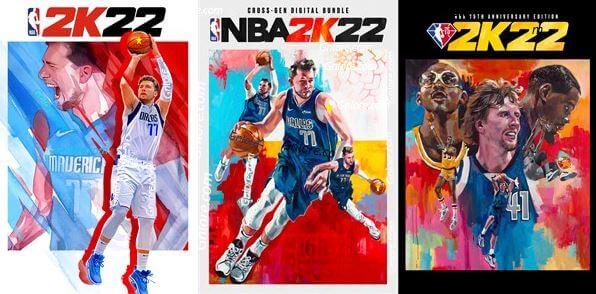 NBA 2K22,標準版/跨世代版/75週年紀念版,封面