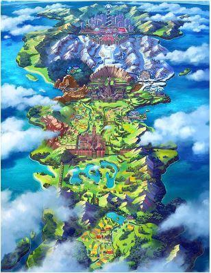 精靈寶可夢 劍 / 盾 - 舞台地圖