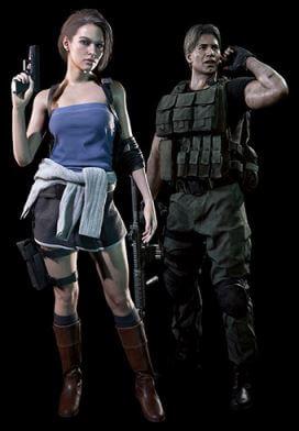 《惡靈古堡3重製》經典服裝「吉兒·華倫泰和卡洛斯·奧利維拉」
