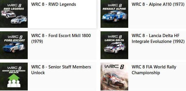 世界拉力錦標賽8, WRC8, 世界拉力冠軍賽8-數位豪華版